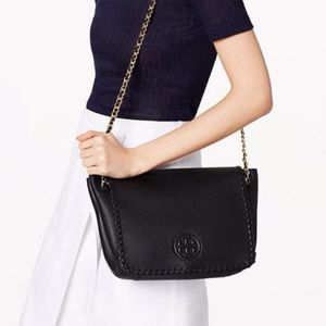 Tory Burch Marion Small Leather Shoulder Bag